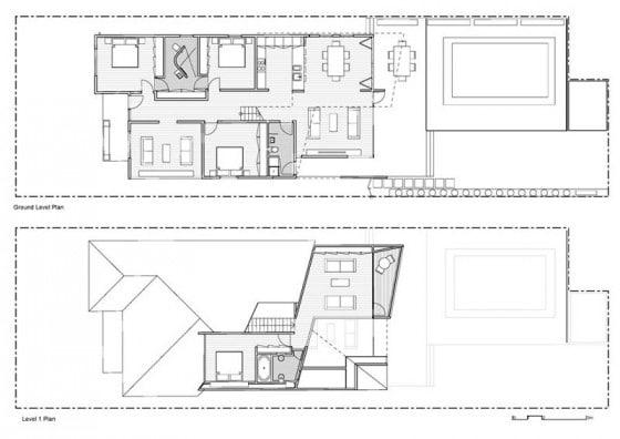 Planos de casa de dos pisos remodelada