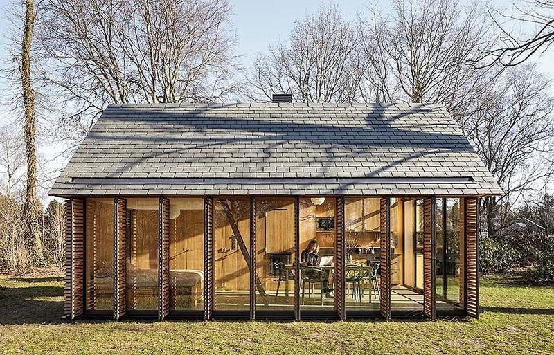 dise o de caba a de madera peque a construye hogar. Black Bedroom Furniture Sets. Home Design Ideas