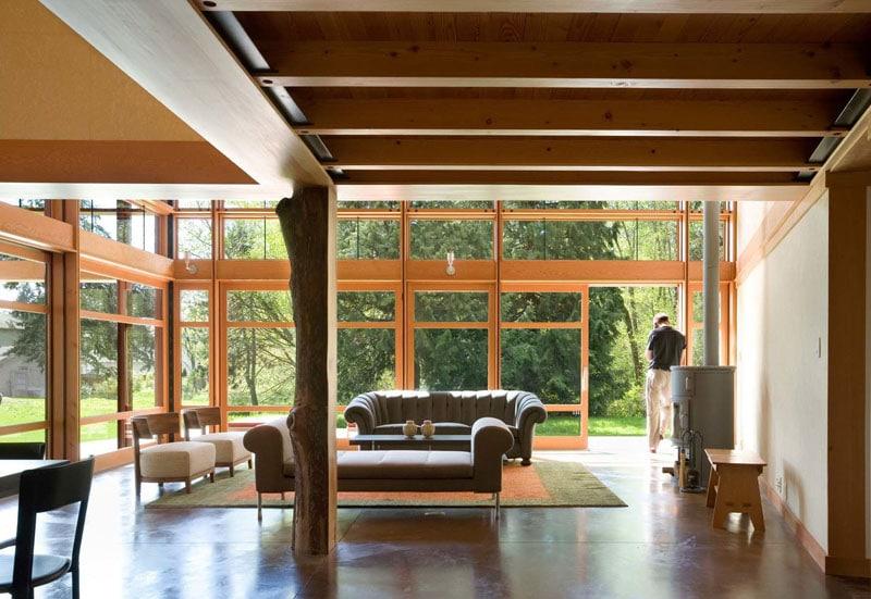 dise o de casa de campo de un piso moderna