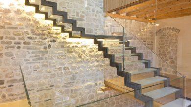 Photo of Diseño de casa de piedra, construcción de tres pisos combina lo antiguo y moderno