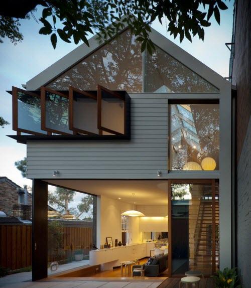 Planos de casa de dos pisos peque a construye hogar for Casa moderna a dos aguas