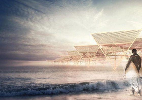 Diseño de casas de bambú sobre el agua