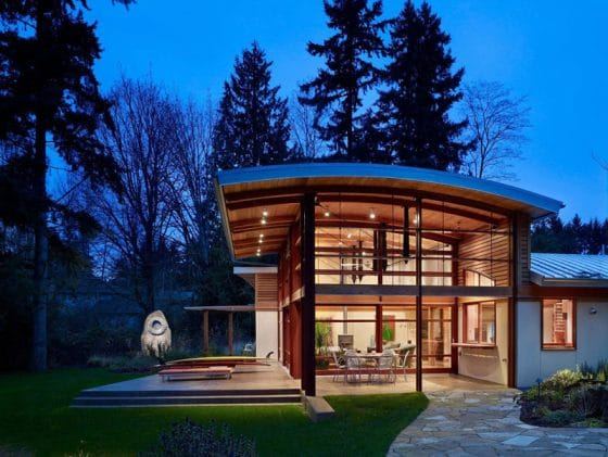 Diseño de casa de campo moderna de un piso