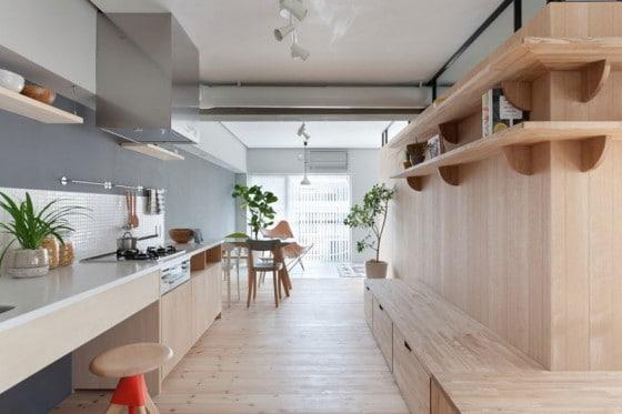 Diseño de interiores de departamento sencillo