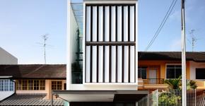 Diseño y planos de casa angosta