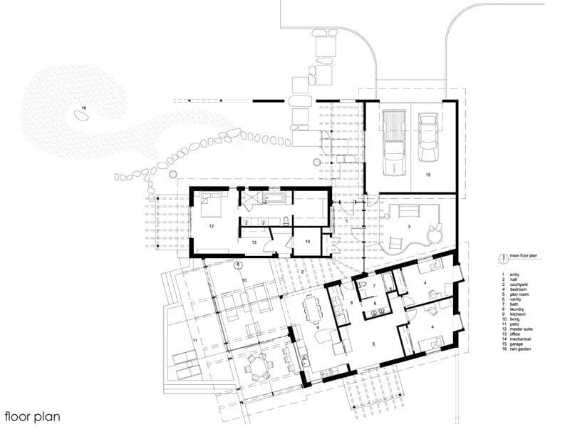Dise o de casa de campo de un piso moderna construye hogar for Plano casa campo