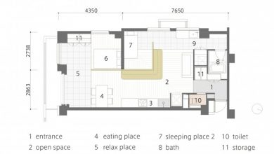 Photo of Plano de departamento pequeño de 60 m², descubre como distribuir habitaciones con un sólo muro interior
