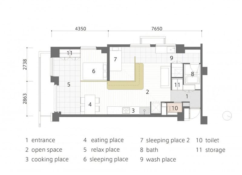 Plano departamento peque o dos dormitorios construye hogar for Departamento pequenos distribucion