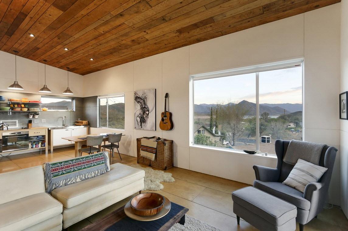 Planos de cabaña moderna de dos pisos | Construye Hogar
