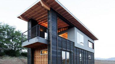 Photo of Diseño de cabaña moderna de dos pisos, pequeña construcción se destaca por su hermosa estructura de madera