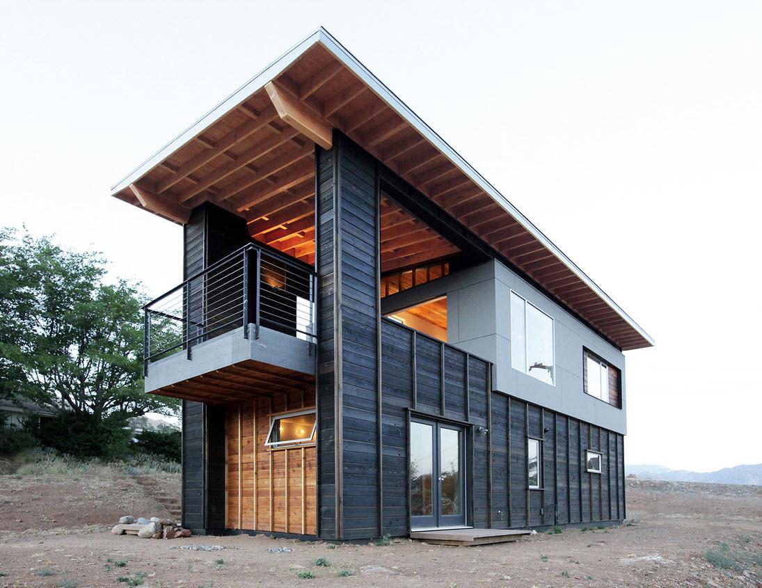 Planos de caba a moderna de dos pisos for Disenos de cabanas