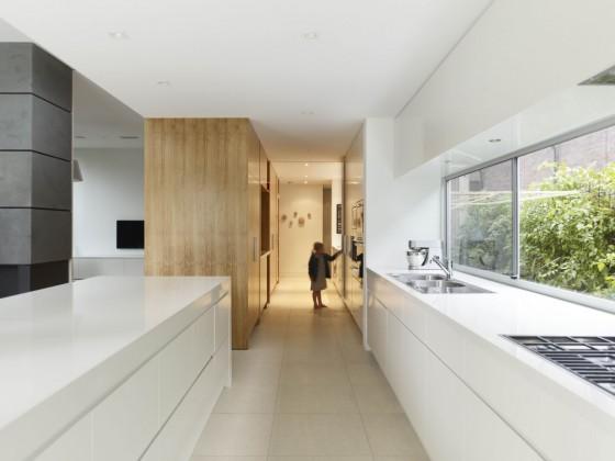 Diseño de cocina moderna color blanco