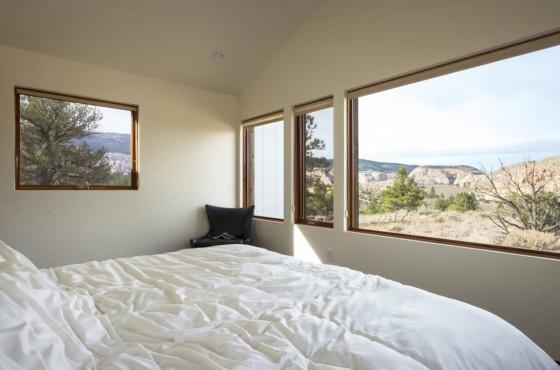 Diseño de dormitorio moderno de casa de campo