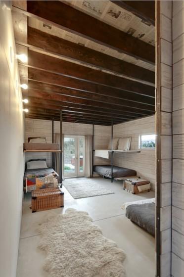 Decoración de dormitorios de cabaña moderna