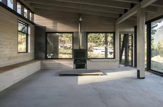 Diseño de interiores rústico casa rural