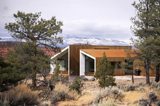 Diseño de moderna casa de campo de madera