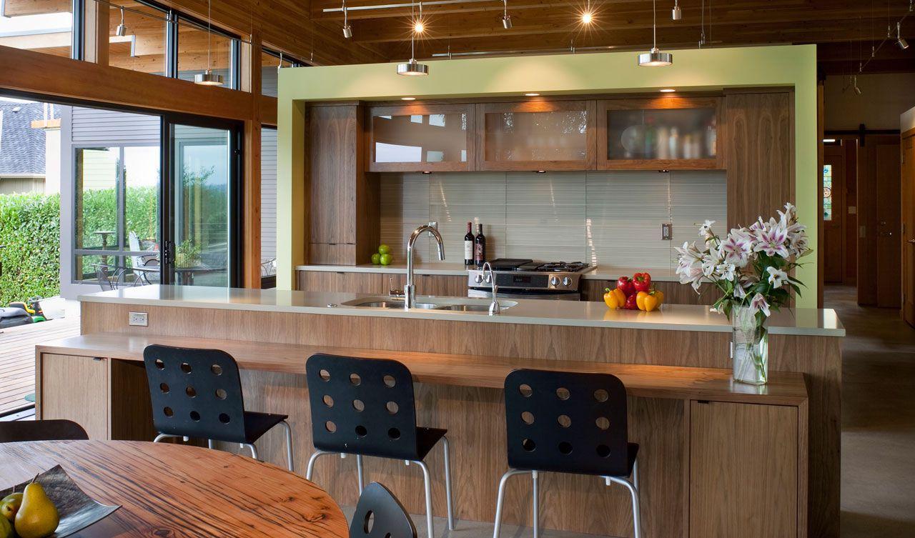 Dise o de casa de madera de una planta for Interior cocinas modernas