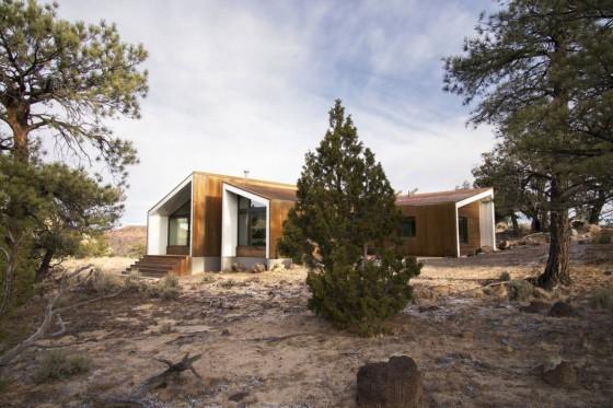 Moderno diseño de casa de campo de madera