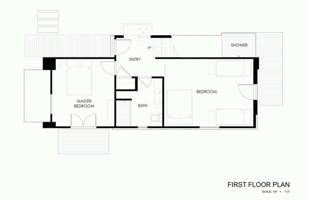 Planos de caba a moderna de dos pisos for Planos de habitaciones