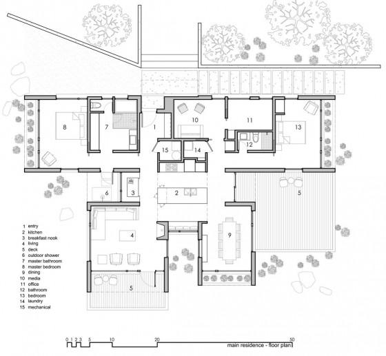 Plano de casa de campo grande