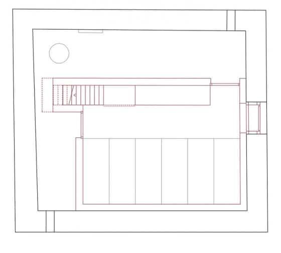 Plano de cabaña pequeña de piedra
