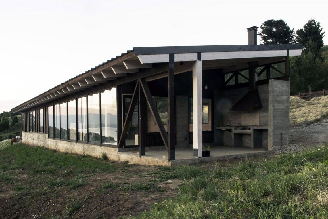 Planos de casa de campo de un piso for Casa moderna en el campo