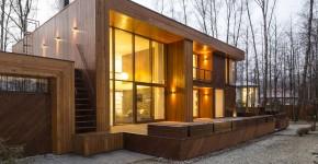 Casa de campo moderna de madera
