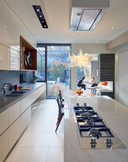 Diseño  de cocina con isla moderna