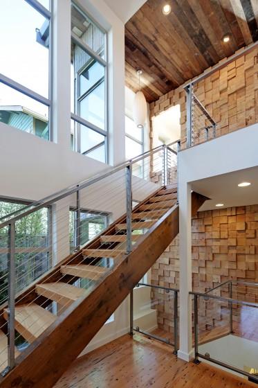 Diseño de escaleras modernas ecológicas