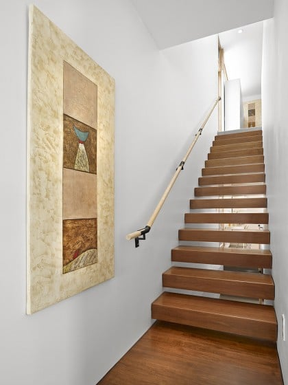 Diseño de escaleras  entres dos paredes