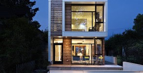 planos de casas modernas en terrenos angostos