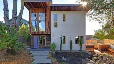 Photo of Diseño de casa ecológica autosuficiente, combinación de madera reutilizada y otros materiales de construcción amigables con el medio ambiente