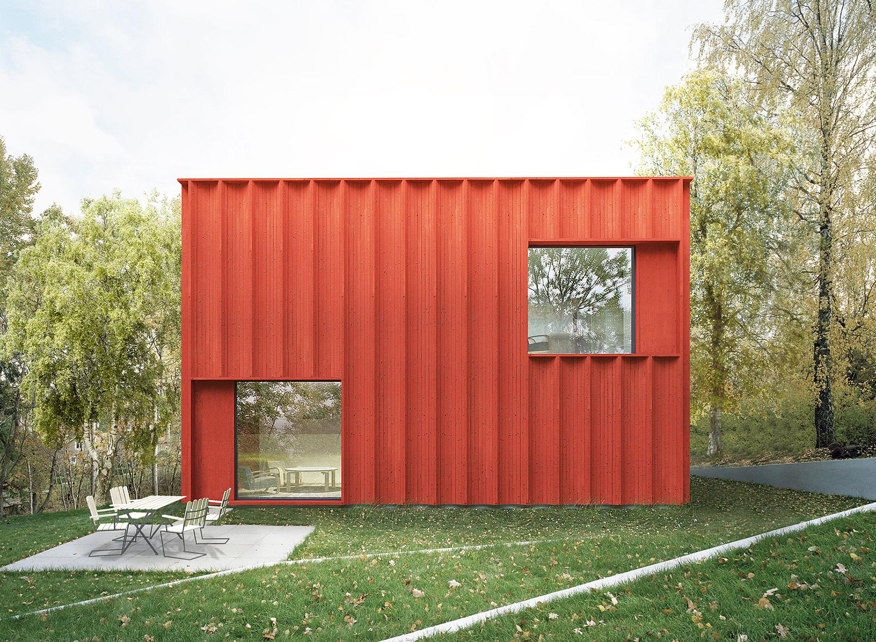 Planos de casa cuadrada peque a y moderna for Scandinavian modern house