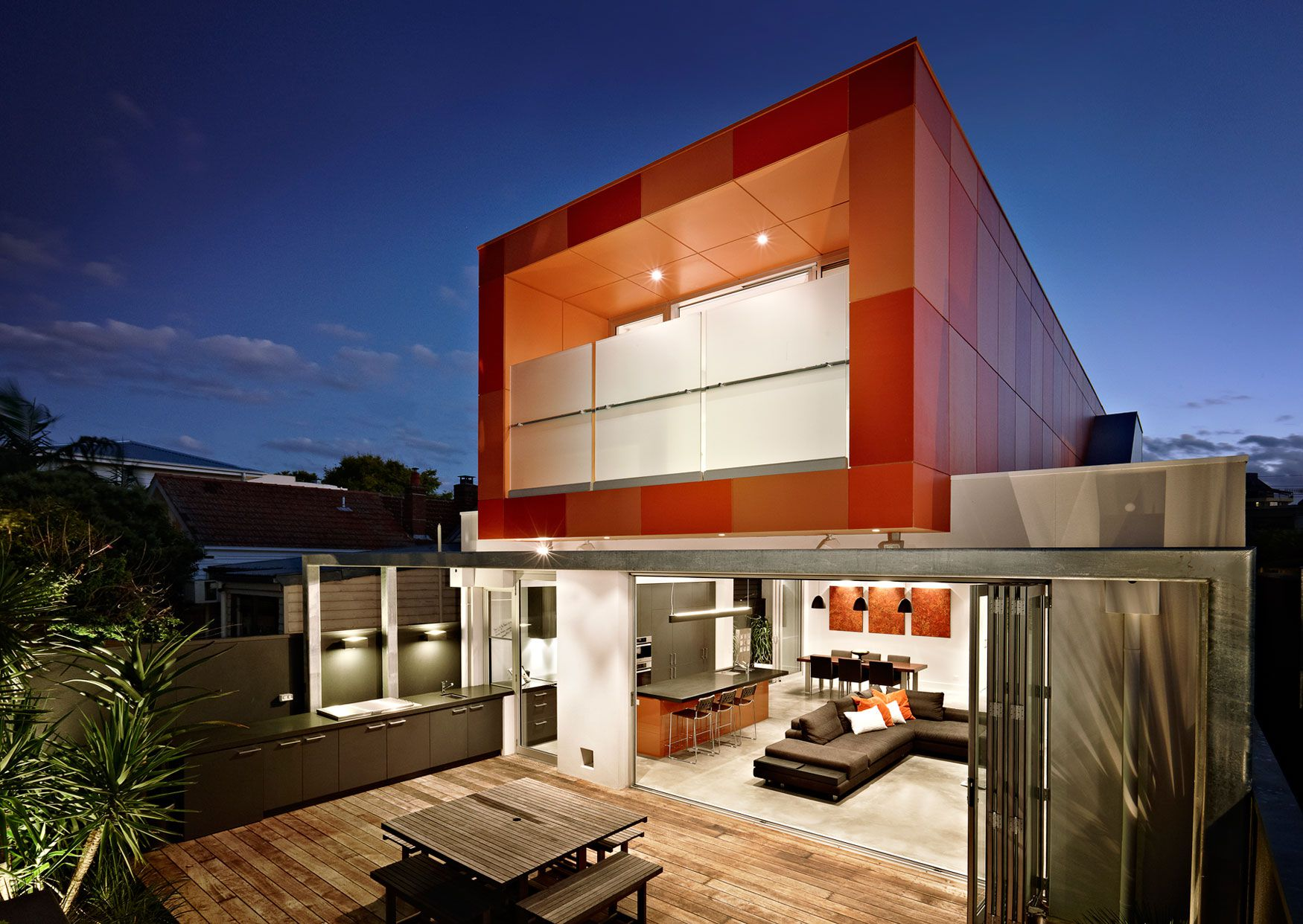 Dise o de casa moderna de dos plantas planos construye - Disenos de casas de dos plantas modernas ...