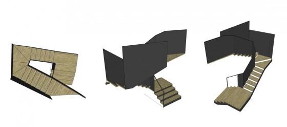 Modelos de escaleras modernas estilo origami