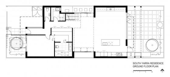 Plano de casa de dos plantas moderna
