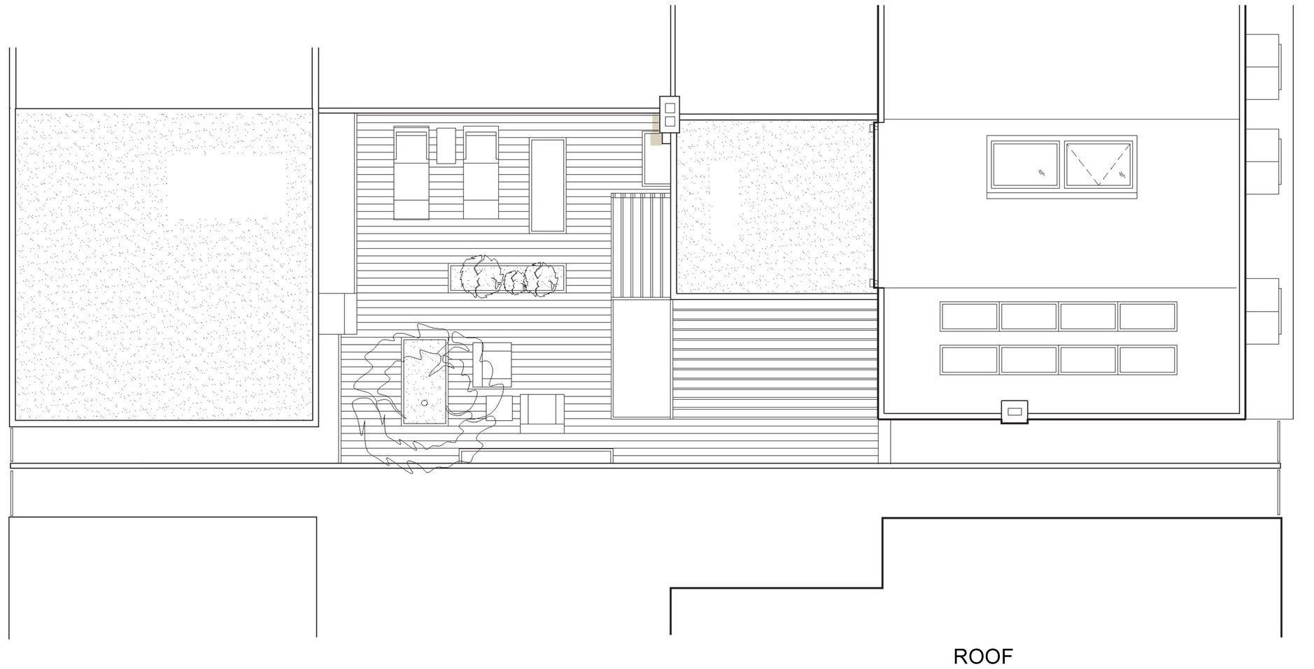 Planos de casa de dos pisos sencilla for Choza de jardin de madera techo plano