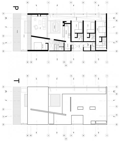 Planos de casa de playa pequeña de un piso