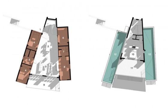 Planos de casa de forma triangular de casa contenedores