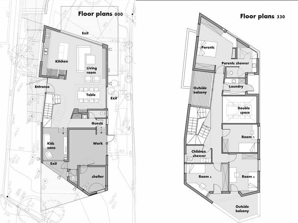 Dise o de casa moderna de dos pisos planos Planos de casas de dos pisos modernas