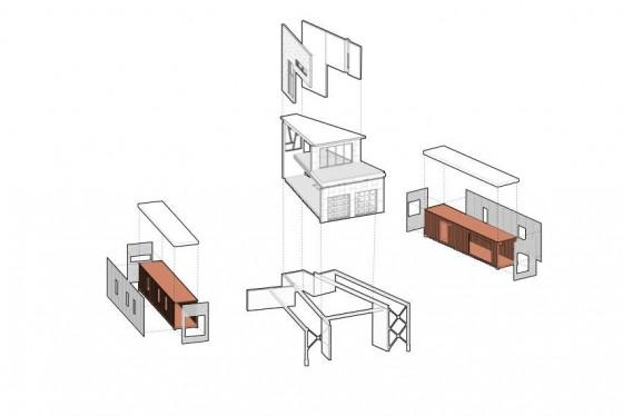 Sistema constructivo de casa contenedores