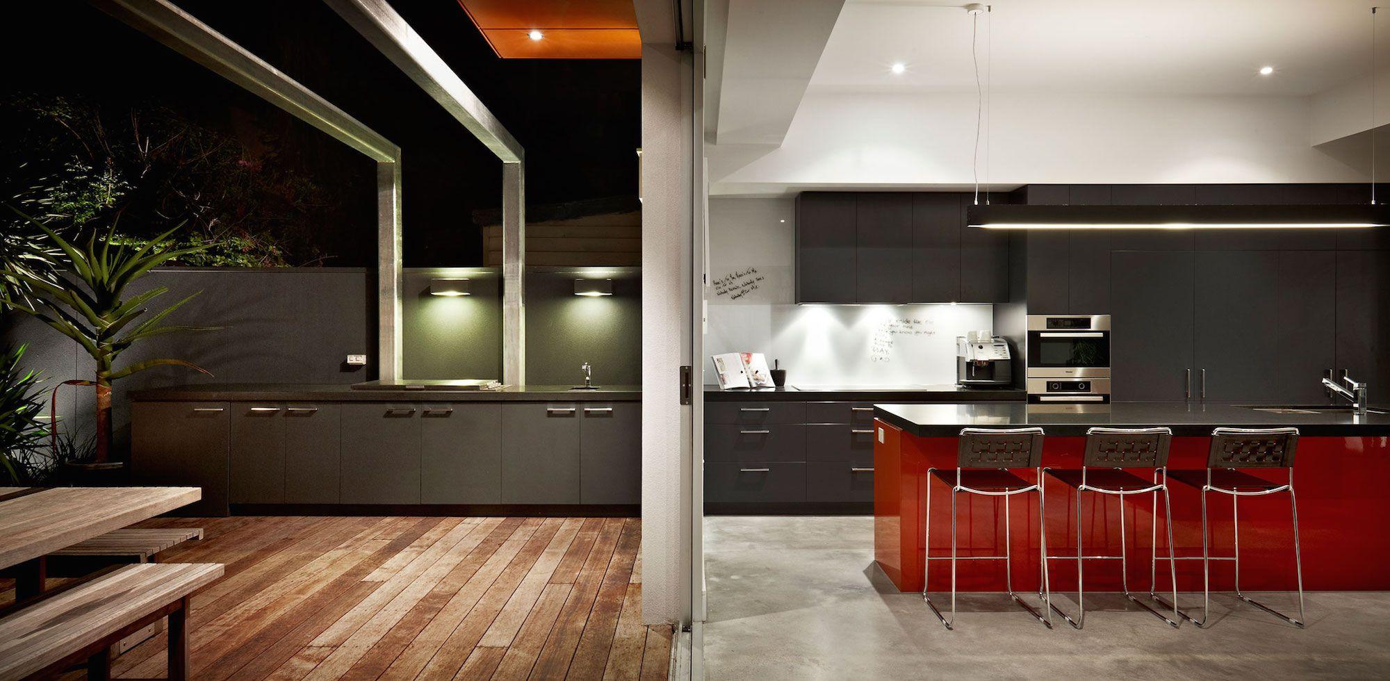 Dise o de casa moderna de dos plantas planos for Vistas de cocinas