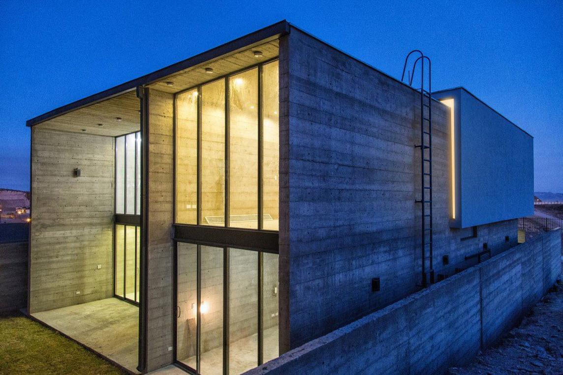 Planos de casa dos pisos de hormig n for Casas de cemento