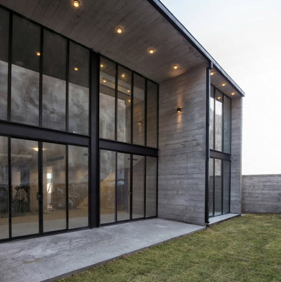 Diseño de casa moderna de hormigón expuesto