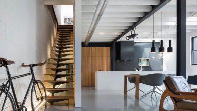 Photo of Diseño de departamento de tres dormitorios, decoración de interiores remodelado preserva materiales de construcción originales