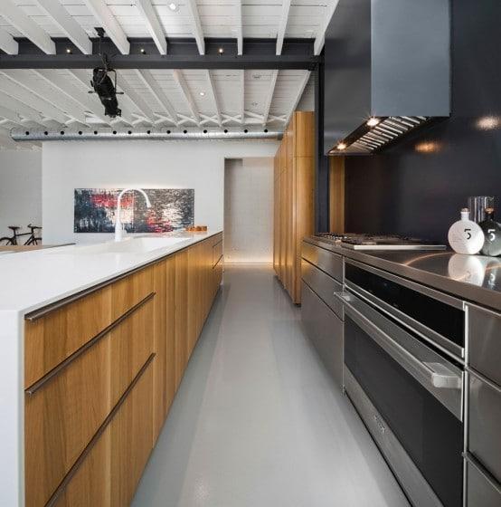 Muebles de cocina de departamento remodelado