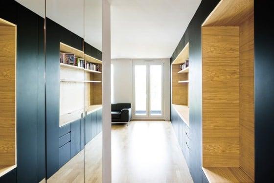 Muebles de madera de apartamento pequeño
