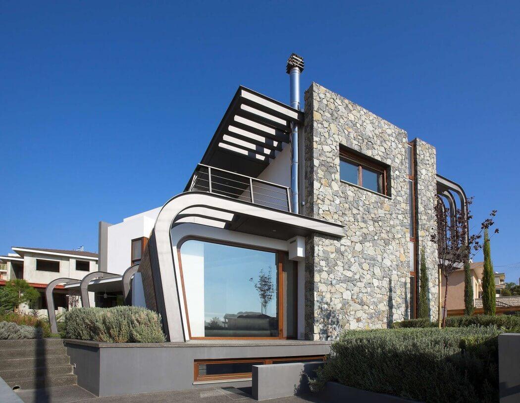 Dise o de casa moderna de dos plantas for Construcciones modernas