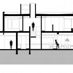 Plano de corte de casa de dos plantas A - A