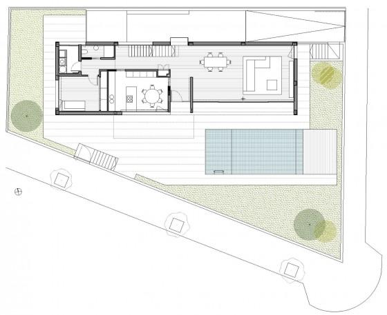 Plano de casa de dos pisos -  primer piso de la casa